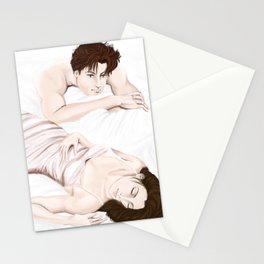 he sees you when you're sleeping Stationery Cards