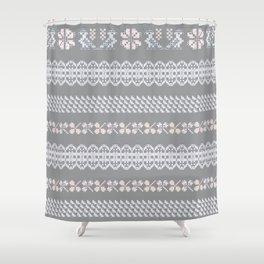 Scandi Knit Ornaments pattern 3 Shower Curtain
