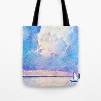 sail Tote Bags featuring Sail by Acacia Alaska