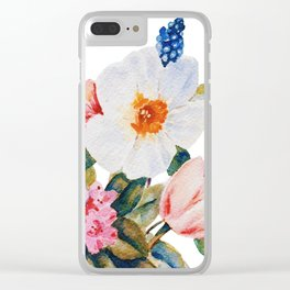 Loose Spring Bouquet Clear iPhone Case
