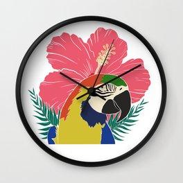 Tropical parrot  Wall Clock