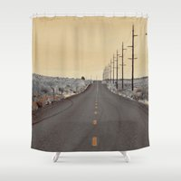 journey Shower Curtains featuring JOURNEY by Teresa Chipperfield Studios