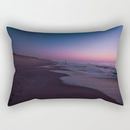 Picture of sunset on the beach at Paal 9 I | A journey across the Wadden Island Texel Rectangular Pillow