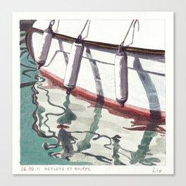 Reflets et Bouées Canvas Print