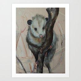Cute Opossum Art Print