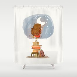 Nothing is out of reach Shower Curtain