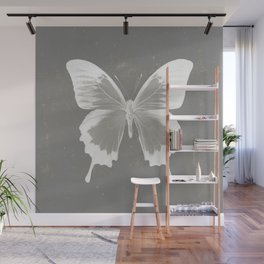 Butterfly on grunge surface Wall Mural