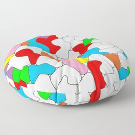 Multi-colored Shapes  Floor Pillow