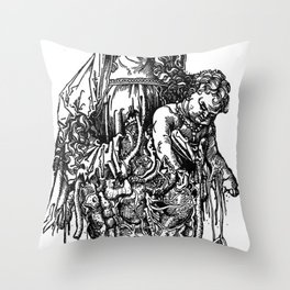 Santa De Carne Throw Pillow