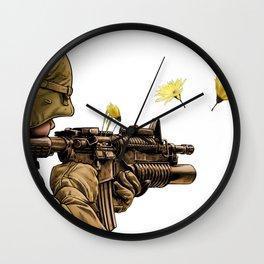 Peace Fire Wall Clock