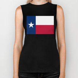 Texas State Flag, Authentic Version Biker Tank