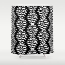 diamondback in black & white Shower Curtain