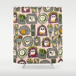 veggie sushi melba Shower Curtain