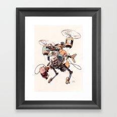 Aerobatic Support Piggie Copter Framed Art Print