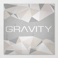 gravity Canvas Prints featuring Gravity by eARTh