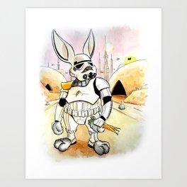 Bunnytrooper Art Print