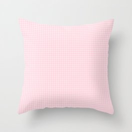 Light Soft Pastel Pink Hounds Tooth Check Throw Pillow
