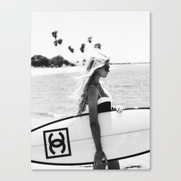 Fashion girl, Woman, Model, Fashion art, Minimal Canvas Print