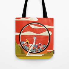 Road Cycling Race Hamster Wheel Challenge Tote Bag