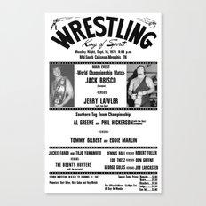 #1 Memphis Wrestling Window Card Canvas Print