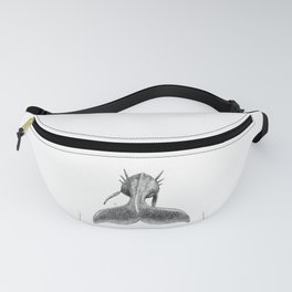 Horned Whale B/W Fanny Pack