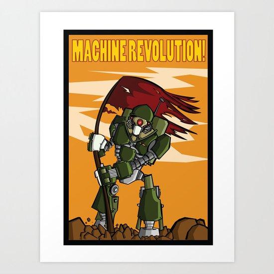 Machine Revolution Art Print