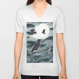 Crow Moon Unisex V-Neck