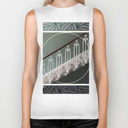 Stairway to Heaven - graphic design Biker Tank