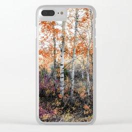 Rust Aspens Clear iPhone Case