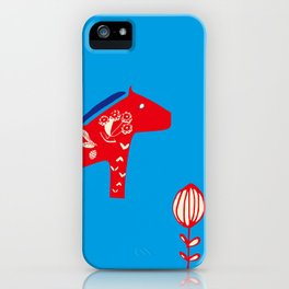 Dala Horse blue iPhone Case