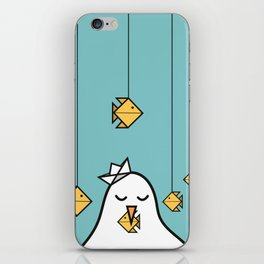 The Seagull and The Origami Fishes iPhone Skin