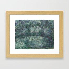 The Japanese bridge - Claude Monet Framed Art Print