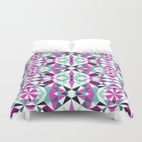 geo Duvet Covers featuring geo by Lang