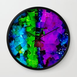 Looks like stained glass 1 Wall Clock