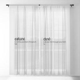 Cafuné Sheer Curtain