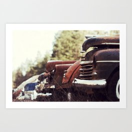 Rows of Cars 2 Art Print