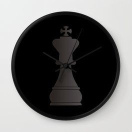Black king chess piece Wall Clock