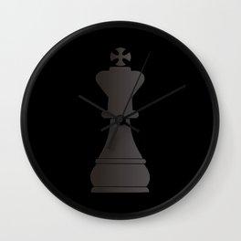 Black king chess piece Wall Clock