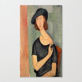 "Amedeo Modigliani ""Jeanne Hébuterne (Au chapeau)"" Canvas Print"