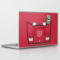 transformers Laptop & iPad Skins featuring Transformers - Sideswipe by CaptainLaserBeam