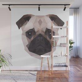 Geometric Pug Wall Mural