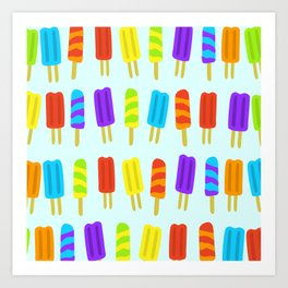 Colorful Popsicles Pattern Art Print