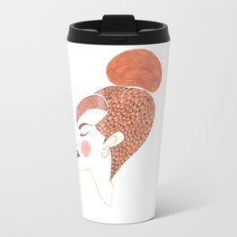 Woman with colours Travel Mug