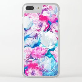 FLORAL GARDEN Peony & Magnolia Clear iPhone Case