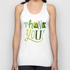 Thank You! Unisex Tank Top