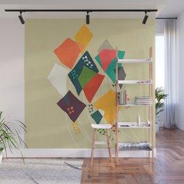 Whimsical kites Wall Mural