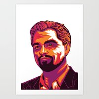 leonardo dicaprio Art Prints featuring Leonardo DiCaprio by Obez