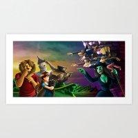 oz Art Prints featuring OZ by Lukas Stobie