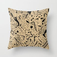 Curious Collection No. 9 Throw Pillow