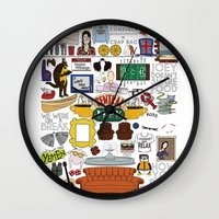 collage Wall Clocks featuring Collage by Loverly Prints